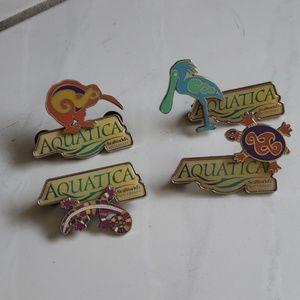 Rare unique set (4) Sea World/Aquatica pins